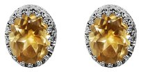 LoveBrightJewelry Oval Citrine Stud Earrings Just Perfect to Gift Her