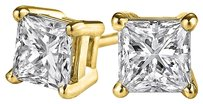 LoveBrightJewelry Push Back Stud Earrings with Sparkling Natural Diamonds
