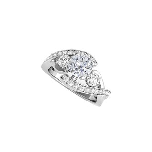 LoveBrightJewelry Round Shaped Cz Engagement Ring In 925 Sterling Silver