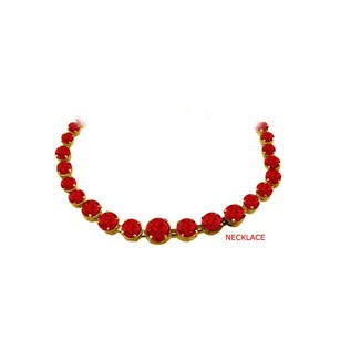 LoveBrightJewelry Ruby Graduated Necklace 14K Yellow Gold 30 CT TGW