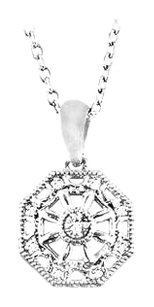 LoveBrightJewelry Sterling Silver 0.04 CT TW Diamond 18 Inch Necklace