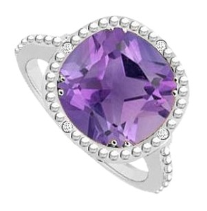 LoveBrightJewelry Sterling Silver Amethyst and Cubic Zirconia Ring 2.05 CT TGW