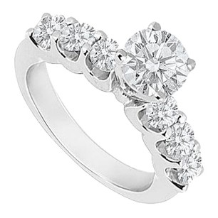 LoveBrightJewelry Sterling Silver Cubic Zirconia Engagement Ring 1 CT TGW