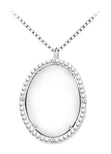 LoveBrightJewelry Sterling Silver White Agate and Cubic Zirconia Pendant 15.08 CT TGW