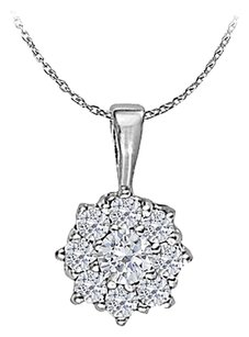 LoveBrightJewelry Cubic Zirconia Circle Pendant in Sterling Silver 0.33 CT TGW,Perfect Jewelry Gift for Women