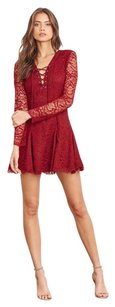 Lovers + Friends short dress Cranberry on Tradesy