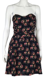Lucca Couture Womens Sheath Floral Strapless Above Knee Summer Dress