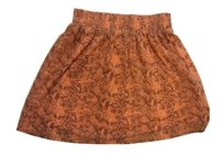 Lucca Couture Skirt Orange Brown