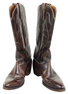 Lucchese Womens Distressed 7b Leather Casual Brown Boots