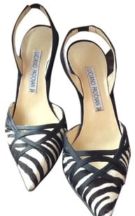 Luciano Padovan Black White Pumps