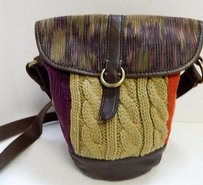 Lucky Brand Multi Leather Suede Cross Body Bag