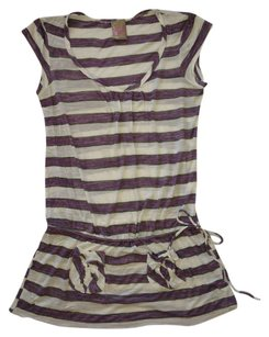 Lucy Love short dress Purple and White Striped on Tradesy