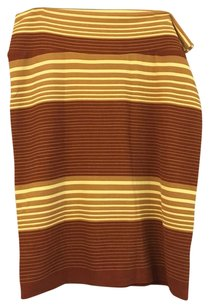 LuLaRoe Skirt Tan, Burnt Orange, Yellow