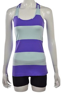 Lululemon Womens Striped Racer Back Sleeveless Shirt Top Multi-Color