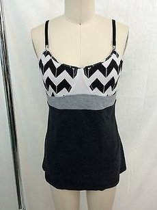 Lululemon Lululemon Athletica Charcoal Black White Zig Zag Tank Top