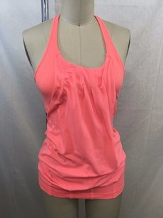 Lululemon Lululemon Athletica Neon Orange Sports Bra Overlay Tank
