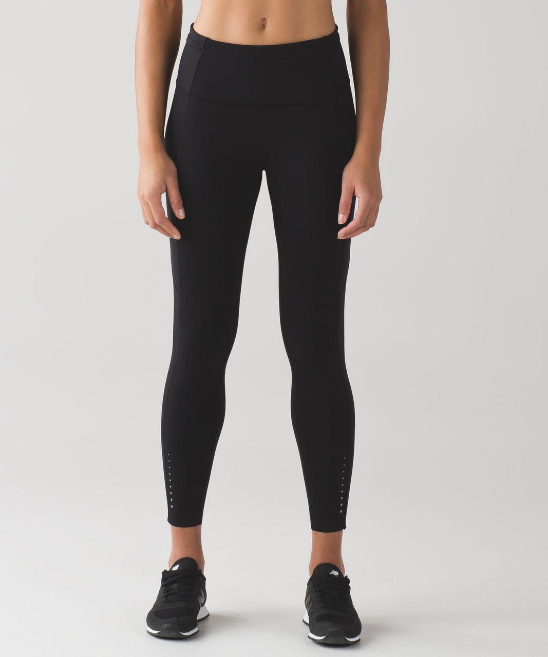 lululemon black fast and free 78 tight activewear bottoms