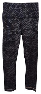 Lululemon Lululemon Athletica Black Gray Print High Rise Side Zip Leggings