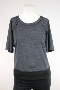 Lululemon Lululemon Sun Runner Heather Gray Cut Out Ss Top