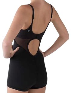 Lululemon Nwt Drop It Like It's Hot Leotard Black Sz 6