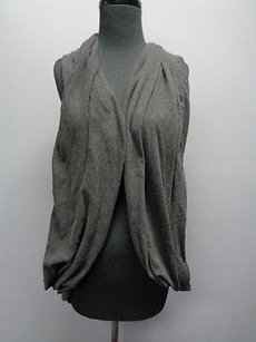 Lululemon Dark Pullover Cross Back Open Wrap Warmer One Sm7581 Top Gray