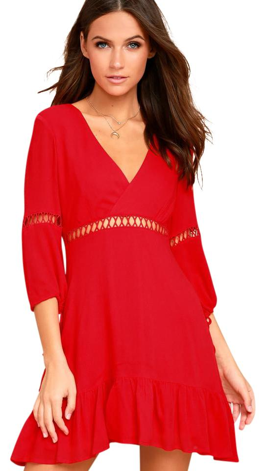 Red dress lulus consignment