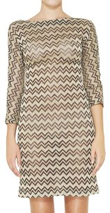 M Missoni Metallic Chevron Herringbone Dress