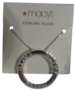Macy's Sterling Silver Faith Circle Necklace