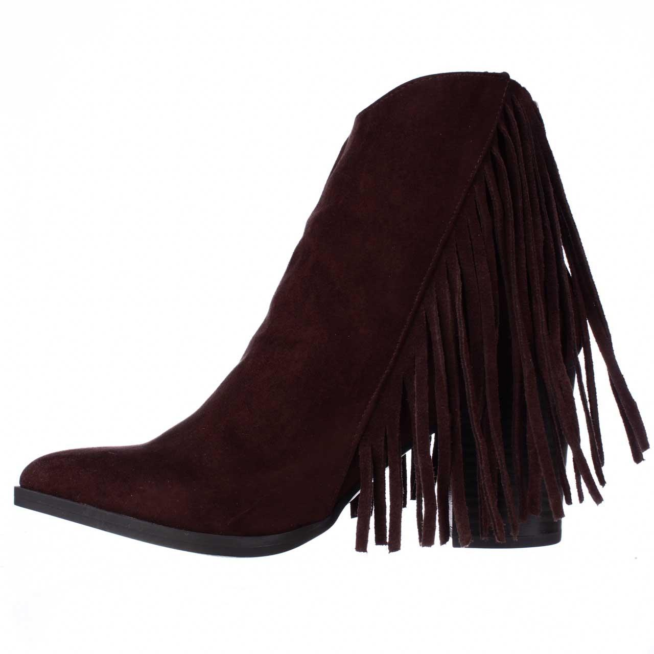 3070c014e46 ... Madden Girl Brown Shaare Fringe Fringe Fringe Western Chestnut  Boots Booties Size US 8.5 Regular ...