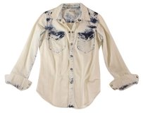 Madewell Acid Button Denim Down Gdl Top