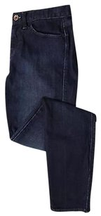 Madewell Womens Solid Denim 25 Blend Casual Trousers Pants