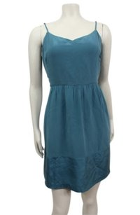 Madewell short dress Blue Silk Bodershine Cami on Tradesy