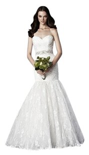 Ivory Lace 4642 Modern Wedding Dress Size 14 (L)