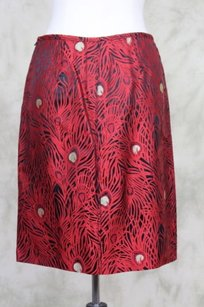 Magaschoni Womens Gold Skirt Red