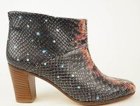 Maison Margiela Maison Galaxy Painted Embossed Leather Heels Black Boots