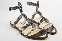 Maiyet Taupe Snakeskin Brown Sandals