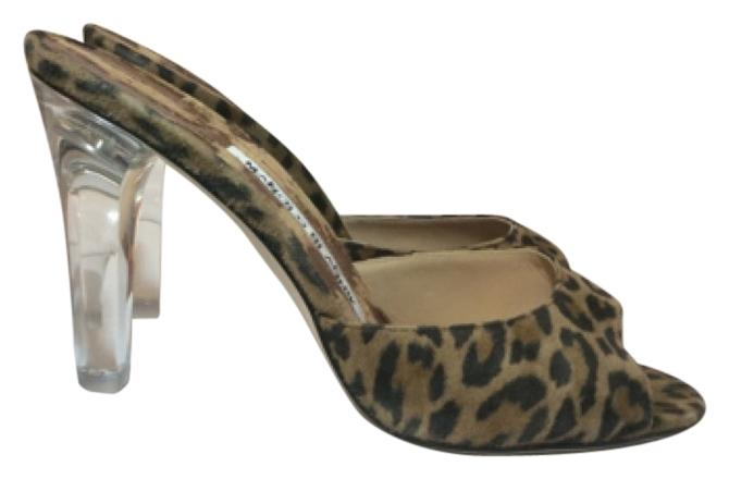 Manolo Blahnik Animal Print Astuta Sandals Size US 6 Regular (M, B)