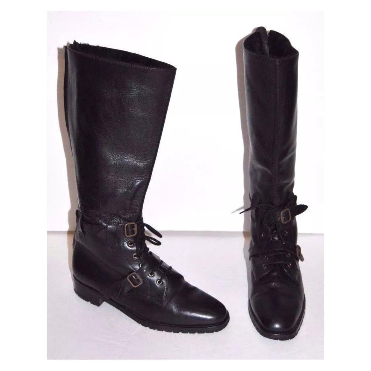 Cheapest cheap online discount store Manolo Blahnik Combat Knee-High Boots 3zvWc