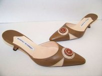Manolo Blahnik Khaki Brown Mules