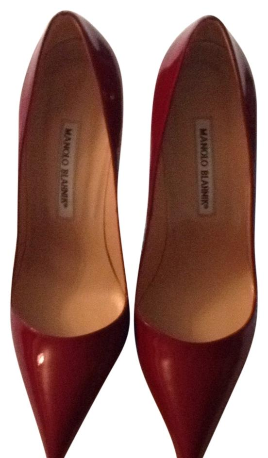 Manolo Blahnik Deep Red Bb 105 - Pumps Size US 10 Regular (M, B ...