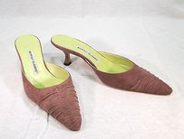 Manolo Blahnik Ruched Worn Once mauve Mules
