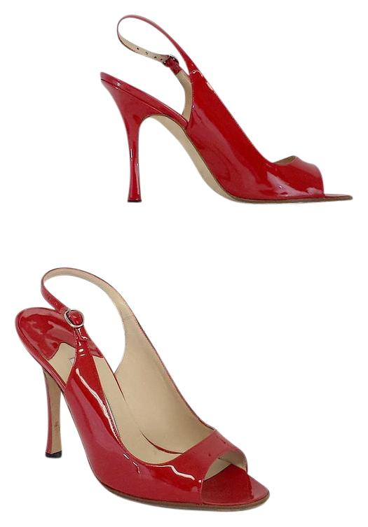 free shipping 2014 newest popular cheap online Manolo Blahnik Peep-Toe Patent Leather Pumps outlet official site from china online official cheap online 7thmM