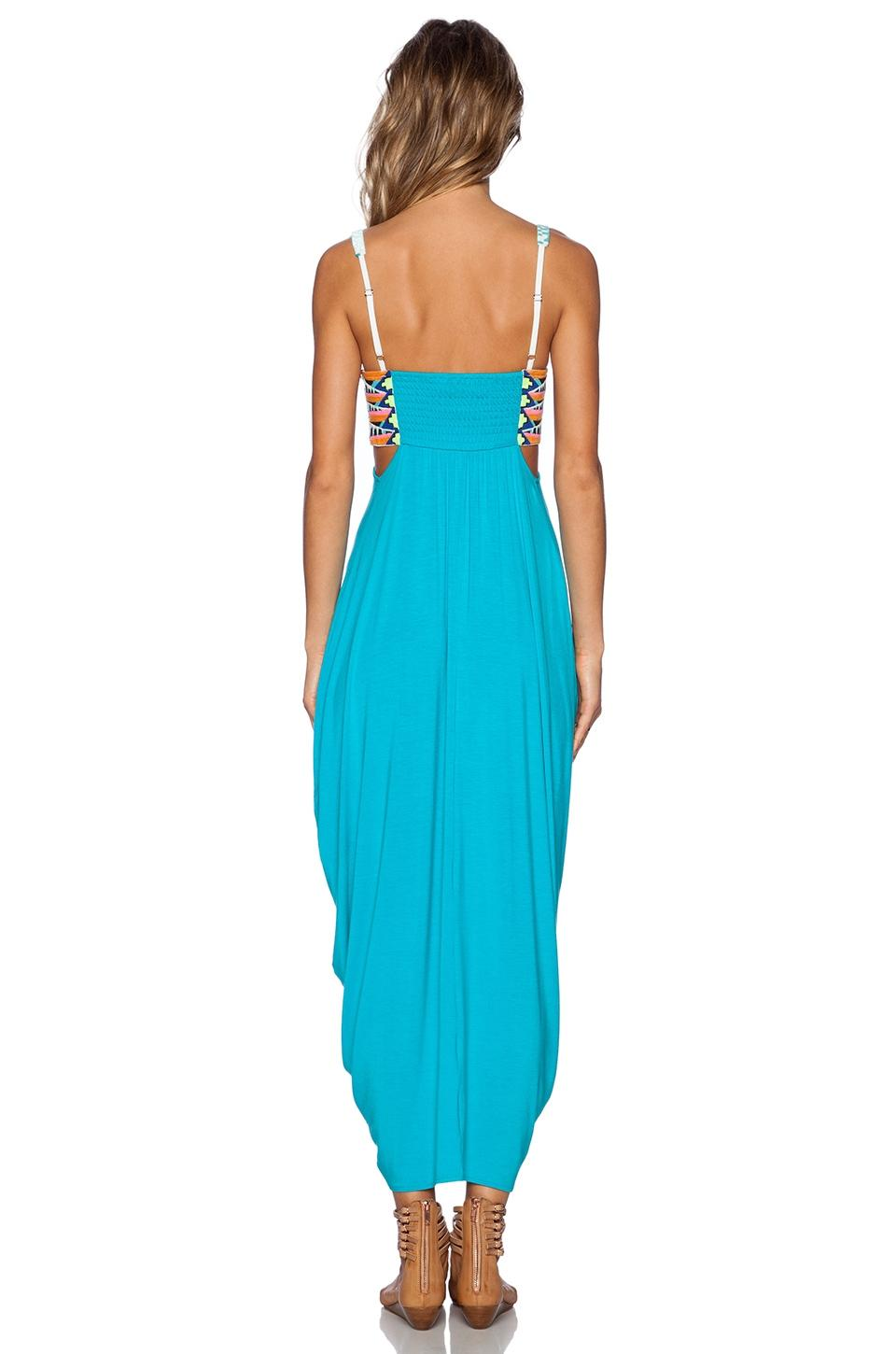 Turquoise Strapless Casual Dress