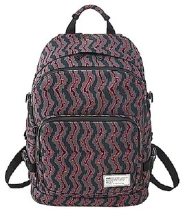 Marc by Marc Jacobs Dlux Backpack Bookbag Laptop Hottest Multi Gray & Pink Messenger Bag
