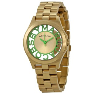 Marc by Marc Jacobs Henry Gold Dial Gold-plated Ladies Watch MBM3295