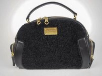 Marc by Marc Jacobs Leather Shearling Handbag Hobo Bag