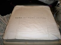 Marc by Marc Jacobs Huge Marc by Marc jacobs 20x18 White Flannel with Gray Logo Dust bag