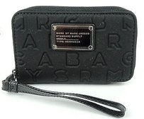 Marc by Marc Jacobs Marc By Marc Jacobs Black Neoprene Dreamy Logo Wingman Wallet Wristlet