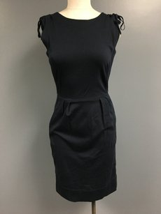 Marc by Marc Jacobs Sleeveless Pleated Back Zip Tie Sleeve 059a Dress