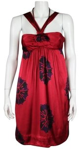 Marc by Marc Jacobs Womens Red Sheath Floral Above Knee Formal Dress